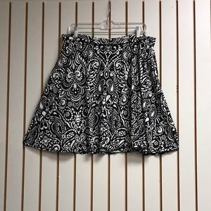 Cynthia Rowley Patterned Skirt with Pockets